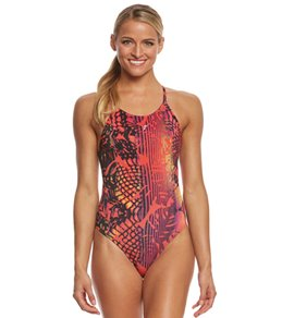 fabiola molina Women's Hawaiian Sunset One Piece Swimsuit