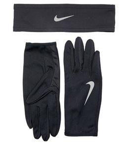 Nike Men's Dri-Fit Running Headband and Glove Set