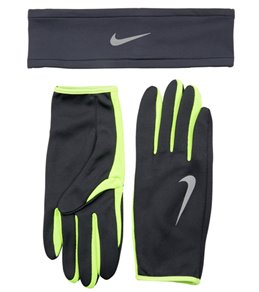 Nike Men's Dri-Fit Running Headband and Glove Set