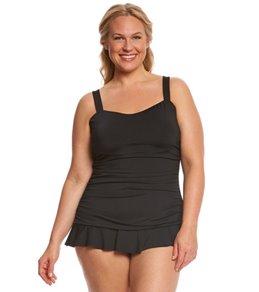Dolfin Aquashape Women's Plus Size Sweetheart Swim Dress