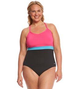 7e3d73b82ce Dolfin Aquashape Women s Plus Size Cross Back One Piece Swimsuit
