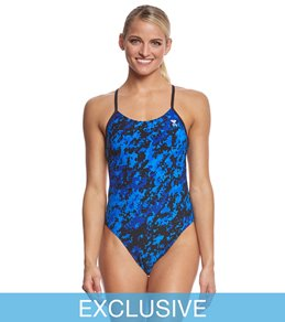 TYR Women's Team Digi Camo Cutoutfit One Piece Swimsuit