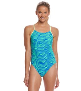 Nike Women's Far Out Cut-Out Tank One Piece Swimsuit