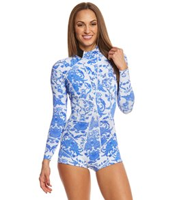 Cynthia Rowley Blue China Printed Wetsuit
