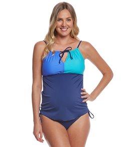 Prego Swimwear Maternity Tri Color Bumpkini Set