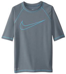 Nike Boy's Outline Swoosh Hydro Short Sleeve Rashguard