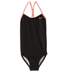 4911be7a6e Nike Girls  Core Solid Crossback One Piece Swimsuit ...