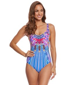 Gottex Sarasana Square Neck One Piece Swimsuit