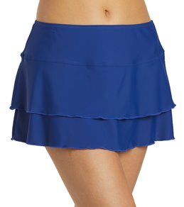 Sporti Solid Cover Up Swim Skirt