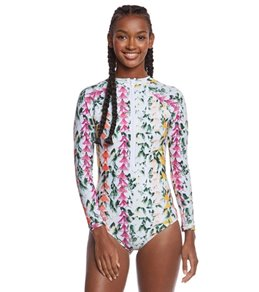 Stone Fox Swim Lei Stand Kalua L/S One Piece Swimsuit