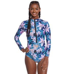 Stone Fox Swim Wonderland Kalua L/S One Piece Swimsuit