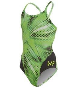 b14cbdd53d MP Michael Phelps Girls' Mesa Mid Back One Piece Swimsuit