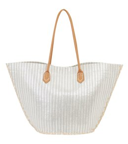 Sun N Sand Natural Straw Drawstring Shoulder Tote Bag