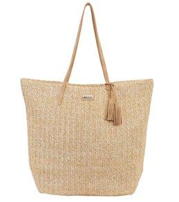 Sun N Sand Natural Crochet Zip Top Shoulder Tote Bag 746350a3dd3d0