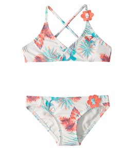 Roxy Girl's Tropical Days Athletic Bikini Set (2-6)