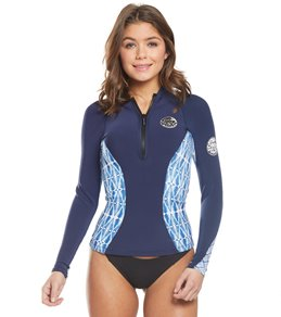 Rip Curl Women s 1mm G-Bomb Sublimated Long Sleeve Front Zip Wetsuit Jacket 5c7060e2c