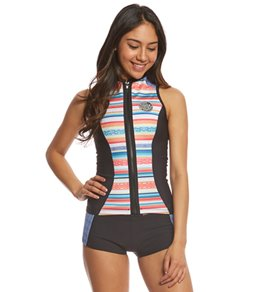 Rip Curl Women's 1mm G-Bomb Sublimated Sleeveless Front Zip Wetsuit Vest