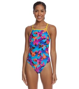 The Finals Women's Funky Fresh Non-Foil Wing Back One Piece Swimsuit