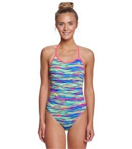 0b00bbe07dd32 TYR Women s Bonzai Crosscut Tieback One Piece Swimsuit