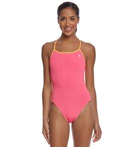 티어 여성 수영복 강습용 원피스 스윔수트 TYR Womens Solid Trinityfit One Piece Swimsuit