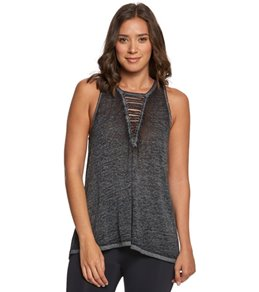 Betsey Johnson Strappy Front Cutout Yoga Tank Top