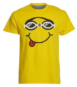 USA Swimming Unisex Goggle Smile Crew Neck T-Shirt