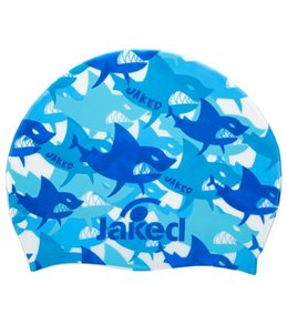 Jaked Funny Shark Junior Silicone Swim Cap