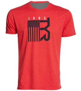 TYR Men's Raise Your Flag Graphic T Shirt