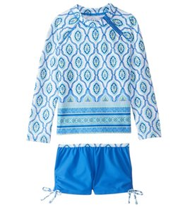 Cabana Life Toddler Girl's Bondi Beach Rashguard Swim Set