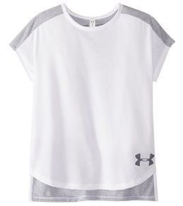 Under Armour Girls' Threadborne Play Up Tee