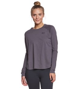 Under Armour Women's Tri Blend LS Solid Top