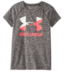 Under Armour Girls' UA Novelty Big Logo Short Sleeve T