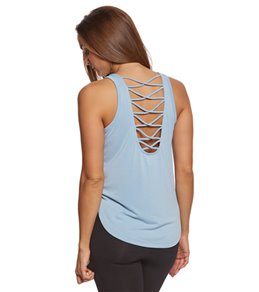 Betsey Johnson Criss Cross Scoop Back Cutout Yoga Tank Top