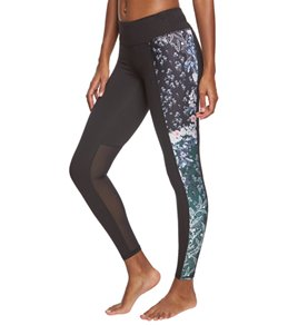 Betsey Johnson Performance Print Blocked Ankle Yoga Leggings