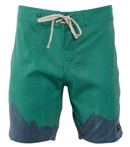 United By Blue Men's Ridged Mountains Scallop Boardshort