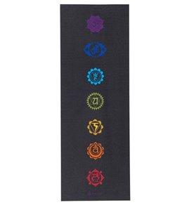 Gaiam Black Chakra Printed Yoga Mat (6mm)