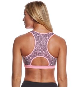 Pink Lotus Movement Pretty Lace Yoga Sports Bra