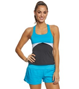Nike Women's Prism Crossback Tankini Top