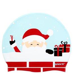 Sporti Jolly Santa Silicone Swim Cap