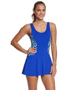 8e4361d5f8518 Dolfin Aquashape Women's St Lucia Colorblock Swim Dress