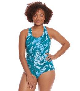 Dolfin Aquashape Women's Plus Size Mariposa Conservative One Piece Swimsuit
