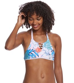 B.Swim Lani Palm Island Hi-Neck Bikini Top