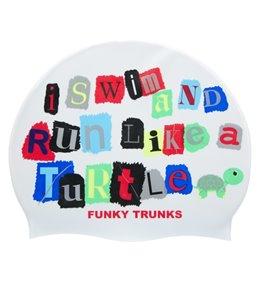 Funky Trunks Swim Turtle Run Silicone Swim Cap