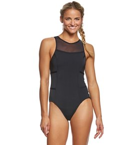 Funkita Women's Still Black Hi Flyer One Piece Swimsuit