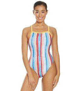 171e54fdf4 Speedo Flipturns Women's Love Goggles Propel Back One Piece Swimsuit