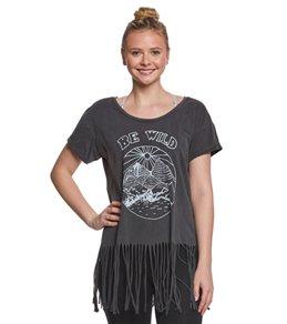LIFE Clothing Be Wild Horizon Fringe Yoga Tee