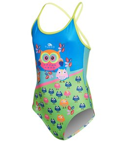 Turbo Girls' Owls One Piece Swimsuit