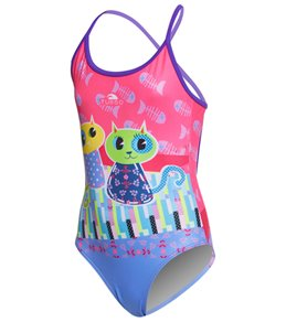 Turbo Girls' Happy Cats One Piece Swimsuit