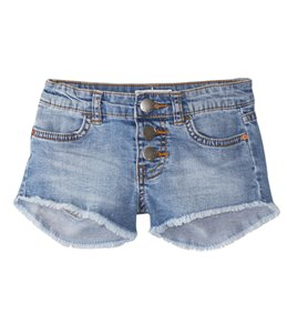 Billabong Girls' Buttoned Up Denim Shorts (4-14)