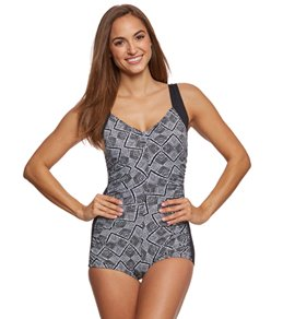 Gabar Maui Geo Girl Leg One Piece Swimsuit